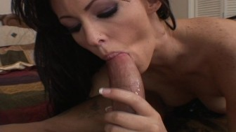 Jenna swallows all the cum he dumps