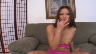 Jayna's long fingers sub for cock and dildo (clip)