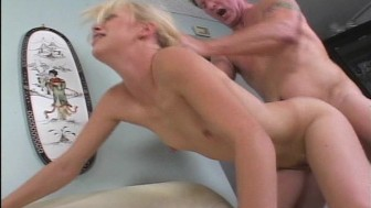 perky blonde gets fucked on couch