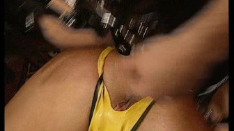 caged like an animal, she needs 2 cocks to tame her (CLIP)