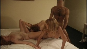 Three hot girls one busy cock(clip)