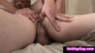 Gay roommate fucks straight guy in ass