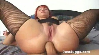 Redhead slut takes it deep ass to mouth