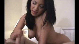 Masturbating in front of the camera