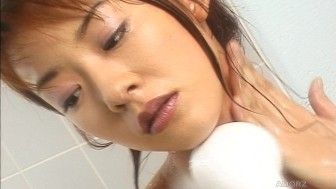 Solo asian plays in shower and bath