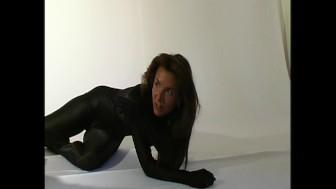 Anastasia in black spandex (clip)