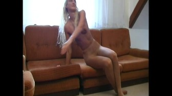 Amateur housewife nylon homestrip (clip)