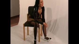 Cute Marlene in sexy nylon stockings