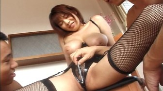 Asian girl with nice tits gets fucked