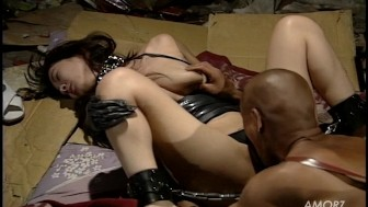 Submissive Asian girl in bondage
