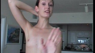 Teen amateur with tiny cute tits