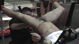 Bondage and anal in the store - Pig Daddy