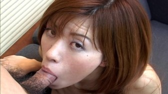 Redhead Asian fucked in her hairy pussy
