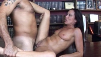 Horny brunette gets fucked HARD