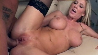 Blonde babe pounded by a big dick