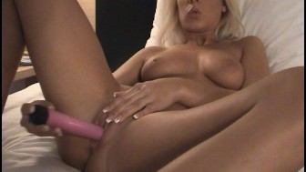 Smokin hot blonde amateur with dildo - Scott Ward