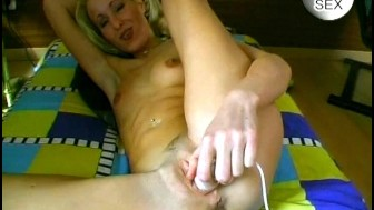 Cute blonde with nice ass masturbates - Sascha Production