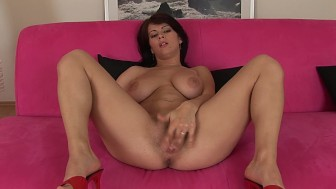 Gorgeous brunette Anya solo - CzechSuperStars
