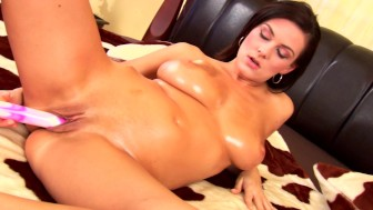 Brunette hottie Anita all by herself - CzechSuperStars