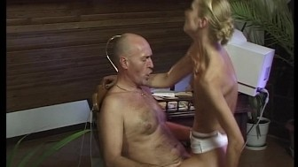 German Broad Cums All Over His Cock - DBM Video