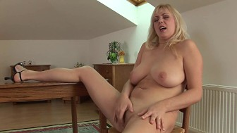 Blonde MILF Carmen masturbating - CzechSuperStars