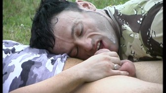 Outdoor gangbang soldiers - Latin-Hot