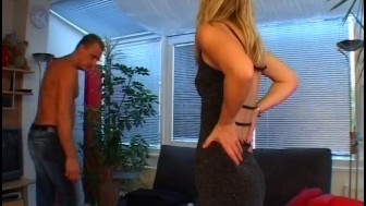 Blonde in fishnets likes to fuck - Venality Productions