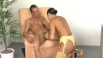 German babe fucks two guys - Inferno Productions