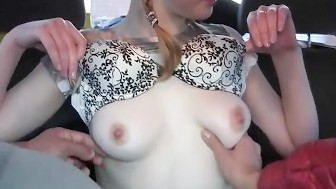 Gorgeous chick in pick up porn