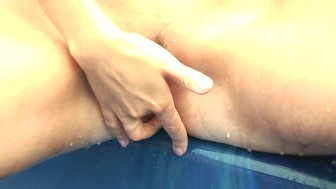 Sabina fingers herself in the hot tub - CzechSuperStars