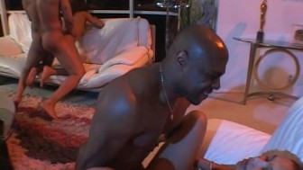 Tight black ass full of hard black cock