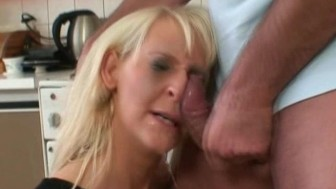 Wife Choke brought by Gagging a Cock