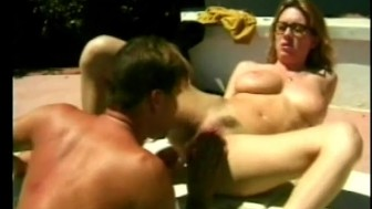 Sexy nerd fucked by the pool - Future Works