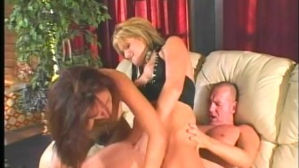 2 hotties share toys and a cock - Pandemonium
