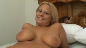 Plump busty slut loving a small dick