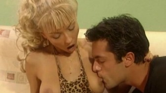 Busty blonde oral and facial surprise