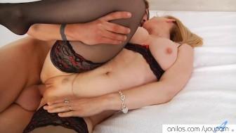 Cougar Nina Hartley spreads for cock