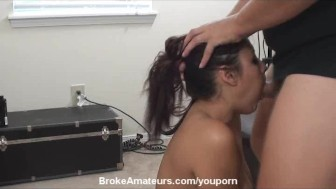 Amateur Asian girl gets huge facial
