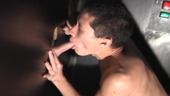 Frankie sucks and swallows thru the glory hole PT.2/2