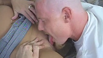 Hot Blonde Finds A Way To Get Cock