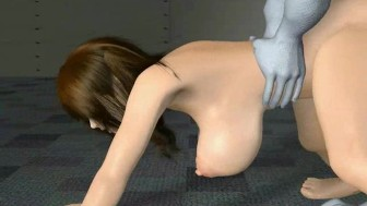 Animated wife double penetrated