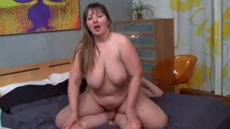 Chubby slut gets fucked from behind by her horny eager lover