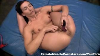 Flexible Brunette Fucks Herself