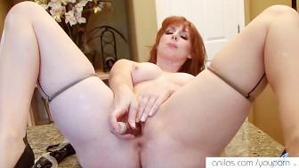 Redhead milf trembling orgasm