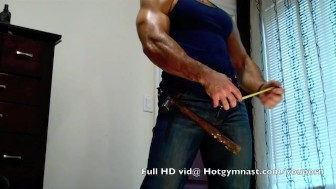 Carpenter CUM with muscle stud FANTASY