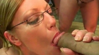 British redhead pornstar Holly Kiss gets spunked in a bukkake party