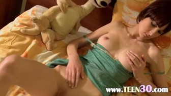 hungry teen russian babe stripping