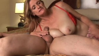 Mature trailer trash sucks cock like a pro