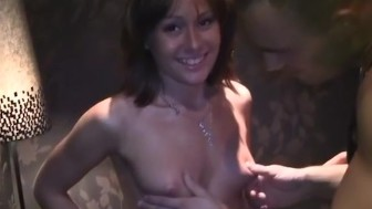 Girl with a perfect body fucked in public