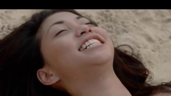 ultra sexy asian loving on the beach